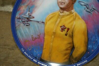 Star Trek Captain Kirk Plate William Shatner Autograph Signed #39/100