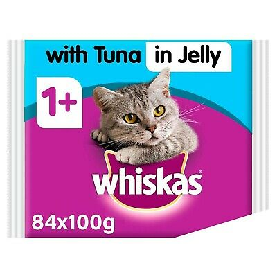Whiskas Tuna in Jelly Wet Adult 1+ Cat Food Pouches 84 x 100g