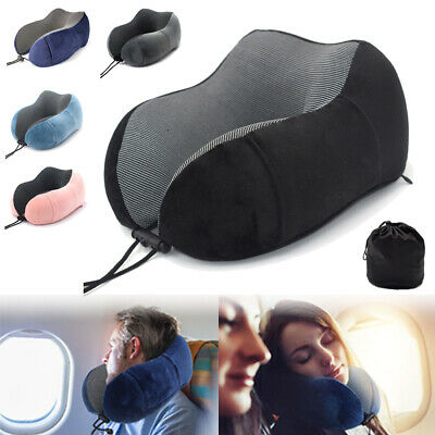 U Shaped Memory Foam Neck Travel Pillow Rebound Cushion Head Rest Airplane Sleep
