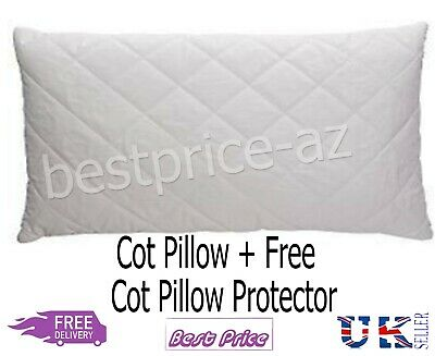 **Special Offer* Baby Quilted Cot Pillow With Free Pillow Protector Anti-Allergy