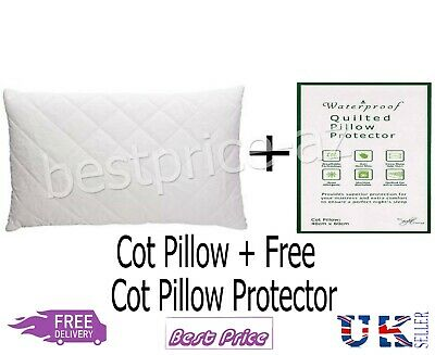*Special Offer*Baby Junior Toddler Cot Pillow+Free Waterproof Quailted Protector
