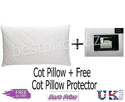 *Special Offer*Baby Toddler Junior Cot Pillow + Free Quailted Pillow Prototector