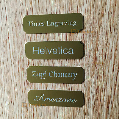 Engraved Plaque / Plate with Cut Corners Silver, Gold, Various Sizes & Fonts