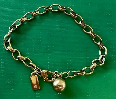 NWT Kate Spade Link Charm Bracelet with # Hashtag charm in Gift Box