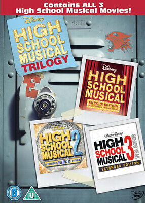 High School Musical 1-3 - UK Region 2 DVD - Zac Efron