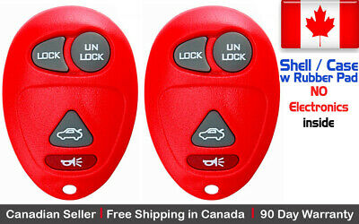 2x New Replacement Keyless Entry For Buick Pontiac and Oldsmobile - Shell Only