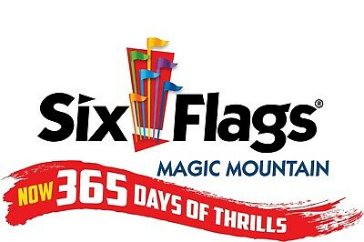 Six Flags Magic Mountain (12) Single Day Tickets