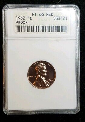 1962 1C Proof Lincoln Memorial Roll 50 Coins In Mint Cellophane