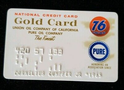 76 Union Gold Card Credit Card exp 1965 ♡Free Shipping♡cc194