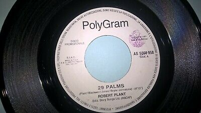 "45 Giri 7"" J.B. ROBERT PLANT 29 Palms UGLY KID JOE Cats in the cradle"