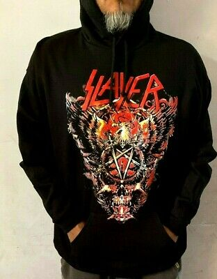Slayer Big Skull Hoodies Metal Rock Black Men's Sizes