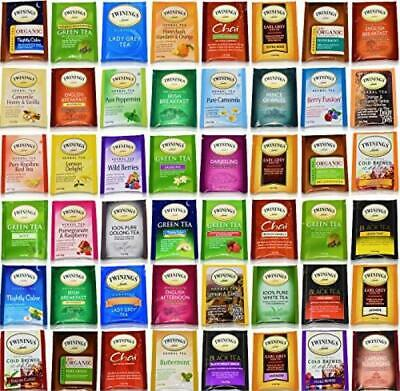 Twinings Tea Bags Sampler Assortment Variety Pack Gift Box - 48 Count - Perfect