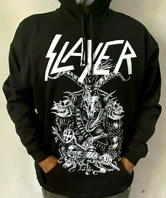 Slayer Warrior Hoodies Metal Rock Black Men's Sizes