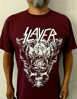 SLAYER BIG SKULL W BURGUNDY ROCK MEN's T-SHIRTS SIZES