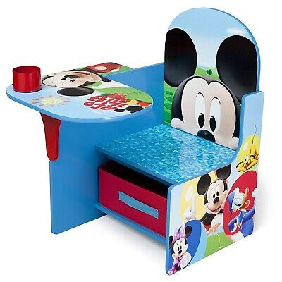 Outstanding Mickey Mouse Desk Chair W Storage Bin Toddler Activity Play Caraccident5 Cool Chair Designs And Ideas Caraccident5Info