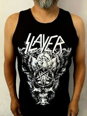 SLAYER BIG SKULL W METAL ROCK MEN's TANK TOP SIZES