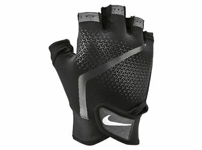 Nike Mens Extreme Gym Fitness Sports Weight Lifting Training Gloves Black Grey