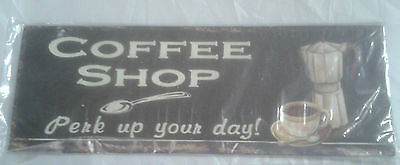 Wall Sign Iron Coffee Shop 13 x 36 cm Advertising Shield from Old Beständen