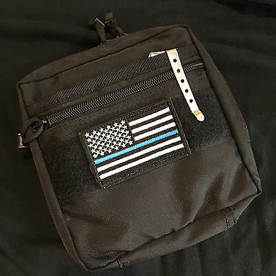 THIN BLUE LINE FLAG TACTICAL PATCH Ships from the US!