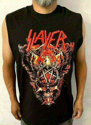 Slayer Big Skull Punk Rock  Sleeveless Shirt Mens Sizes