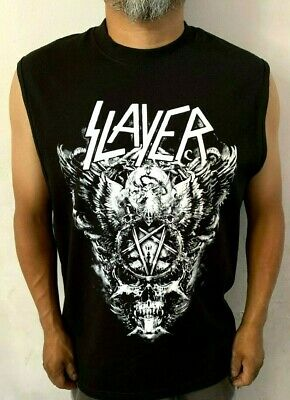 Slayer Big Skull W Punk Rock  Sleeveless Shirt Mens Sizes