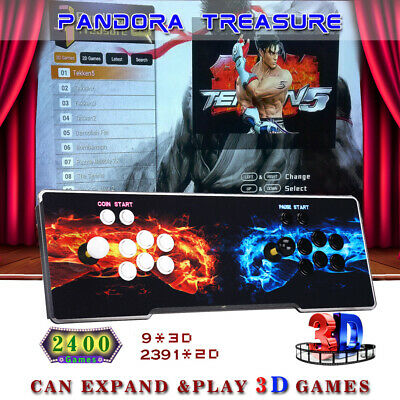 3D Pandora's Box 2400 in 1 Classic Video Games Double Stick Arcade Console PBAS