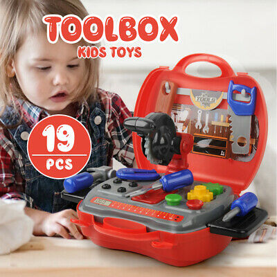 19pcs Durable Tool Set Learning Toolbox Pretend Play Construction toys for kids