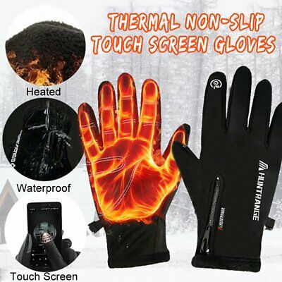 Women Men Winter Warm Gloves Windproof Thermal Touch Screen Mittens Cycling Ski