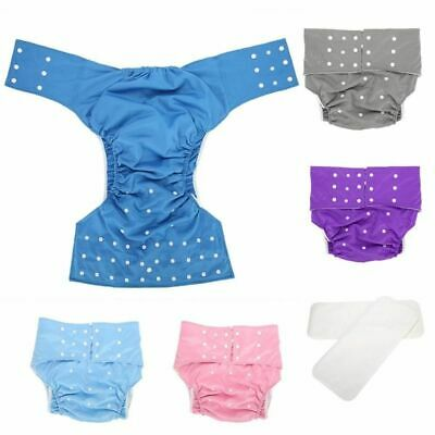 Pocket Nappy Washable Adult Cover Adjustable Reusable Diaper Clothes Supply