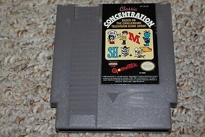Classic Concentration (Nintendo Entertainment System NES) Cart Only