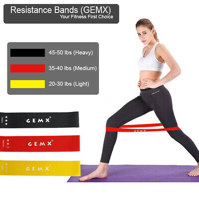 New Resistance Latex Loop Band Set Fitness Gym Elastic Exercise Hip Booty Bands