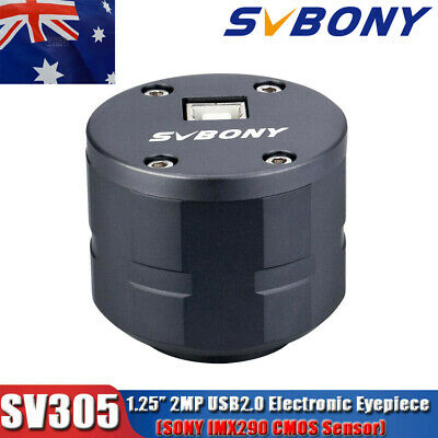 "SV305 2MP Astronomy Camera 1.25"" USB Electronic Eyepiece for Photography AU SHIP"