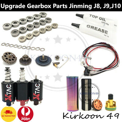 Upgrade gearbox Parts Plunger Ladder Nozzle Head JinMing J8 9 10 ACR Gel Blaster