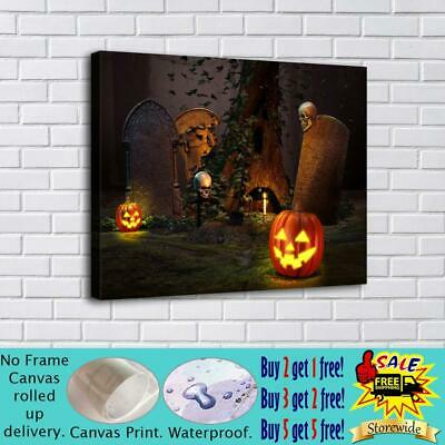 "16""x20""Halloween HD Canvas print Painting Home Decor Picture Room Wall art"