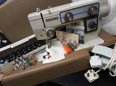 Vintage New Home 549 Electronic Sewing machine with extras see pictures