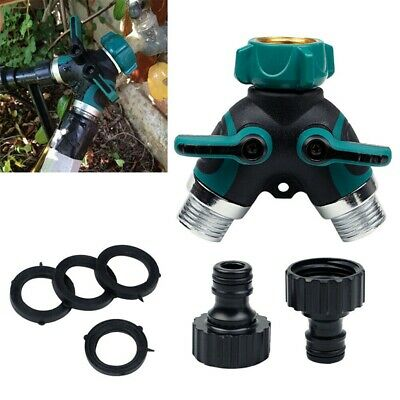 "3/4"" Y Valve 2-Way Shut Off Y Coupling Dual Tap Hose Connector Splitter Garden"