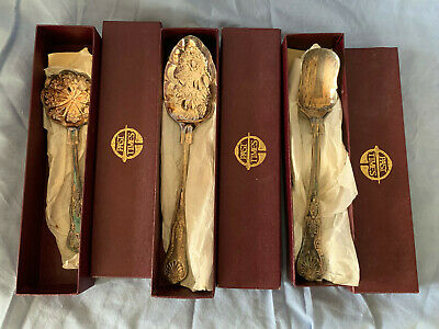 Vintage Silver Plated Stilton ,Cranberry, Table Spoons- Kings Pattern -Boxed