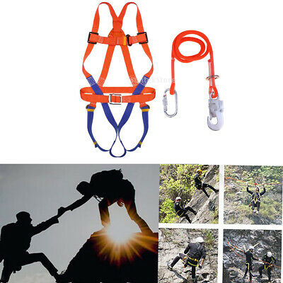 Mountaineering Full Body Harness w/ Lanyard Fall Protection Safety Protecta