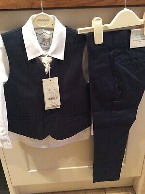 Monsoon Boys Age 4 Years Navy COSGROVE 4 Piece Suit BNWT £60