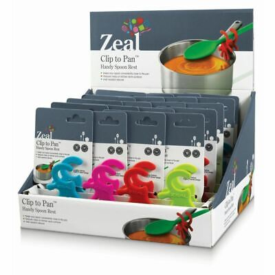 Zeal Handy Spoon Rest Silicone Assorted (Pack of 20)