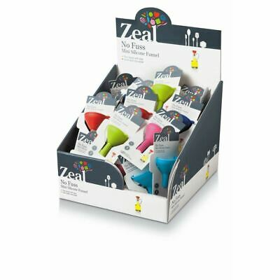 Zeal Mini Funnels Silicone Assorted (Pack of 40)