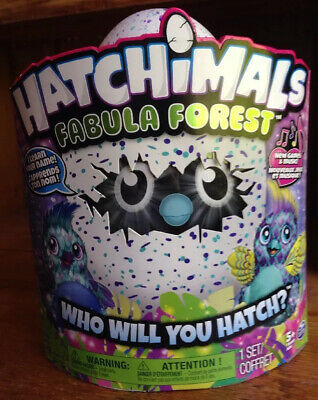 New Hatchimals Fabula Forest Hatching Egg Blue/Purple Puffatoo MISB