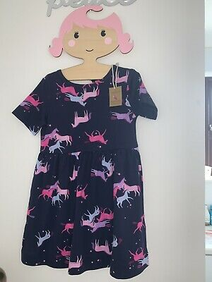 Joules Girls Unicorn Dress 2 Years NEW WITH TAGS