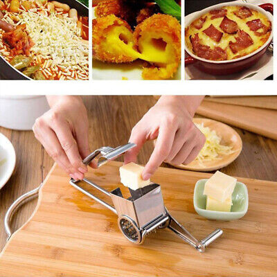 EF89 Silver Cheese Graters Kitchen Tools Cake Gadget Safety Ginger Cutter