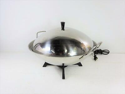 Farberware Model 303 Stainless Steel Electric Wok Excellent Used Conditiion
