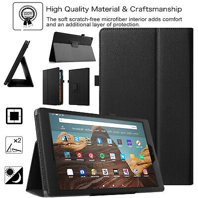 Case For Amazon Fire HD 10 9th Gen 2019 Smart Leather Stand Book Cover Fire 7, 8