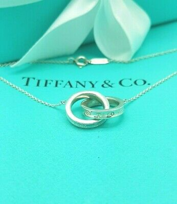 "Tiffany & Co. Sterling Silver 1837 Interlocking Circles 16"" Necklace RRP £285"
