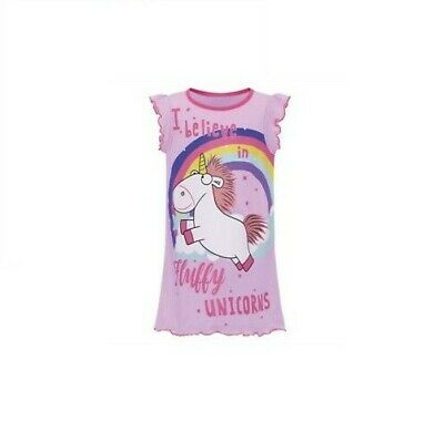Girl's Despicable Me Fluffy Unicorn Nightdress - Age 3/4 Brand New
