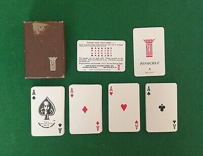 KEM Plastic Playing Cards (1935, USA) With Original Case Vintage Leisure Game
