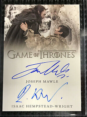 Isaac Hempstead-Wright & Joseph Mawle DUAL AUTO - Game of Thrones Inflexions